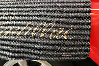 Cadillac Gold Logo Fender Gripper Black Protective Cushion Fender Cover: FG2033