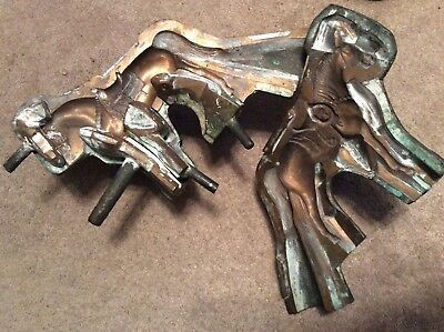 VERY COOL UNUSUAL ANTIQUE ALL BRONZE 20 1/2 lb. SHOW HORSE MOLD  - N.R.