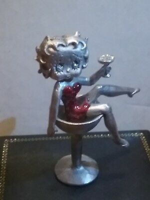 Betty Boop KFS/FS Pewter Figurine  Lavished in Champaign. Signed and numbered