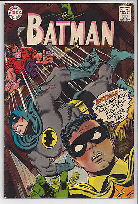 BATMAN: #196: Nov 1967: Silver Age 12-Cent DC Comic: Upper mid-grade: