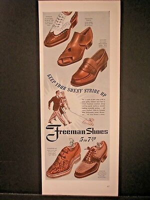 Vintage 1941 Freeman Shoes Ad...Keep Your Sunny Stride Up.
