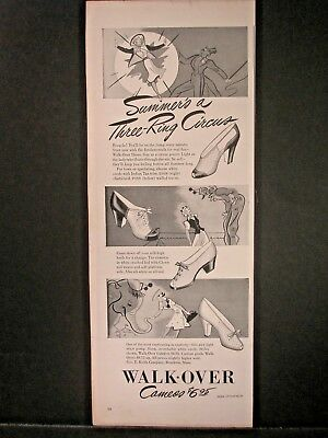 Vintage 1941 Walk-Over Shoes Ad...Summer's A Three Ring Circus.