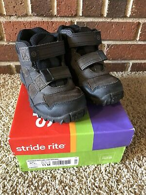 Stride Rite Rugged Ritchie 2 Dark Brown High Top Shoes Boots Little Kid Size 11M