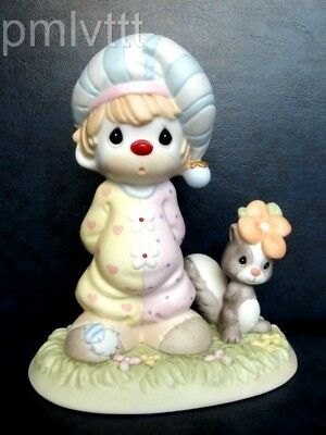 Precious Moments Limited 5000 Clown With A Pet Skunk And A Flower On Its Head