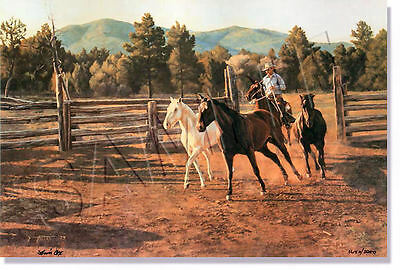 """""""jingling Horses"""" Limited Edition Print By Tim Cox **new & Never Framed**"""