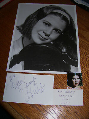 "Kim Darby ""TRUE GRIT""  Signed Autographed 3x5 Card Star Trek OS with 8x10 Photo"