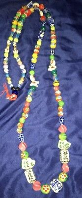 Chinese Porcelain Antique Prayer Beads with Mixed Beads