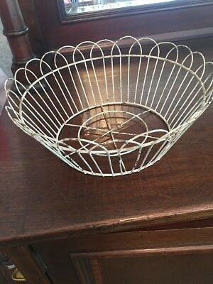 Antique Vintage Metal Wire Bread Basket