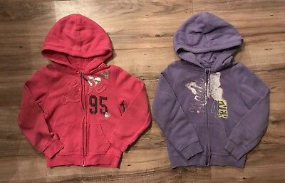 2 Girls Mudd Hooded Zip Up Sweatshirts Size 5