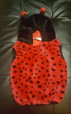 Toddler Girls Halloween Hooded Ladybug Costume Sz 2T