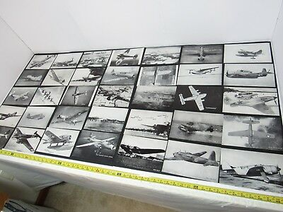 "Vintage Lot Of 64 Wwii Ww2 Aircraft Identification Pictures With Names 5""x8"" B&w"