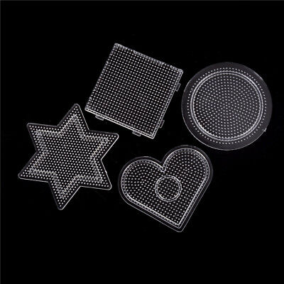 4Pcs/lot Square Round Star Heart Perler Hama Beads Peg Board Pegboard for 2.6mmH