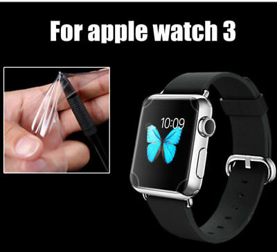 LCD Soft Full Cover TPU Protector Screen Film For Apple Watch Series 3 38mm 42mm
