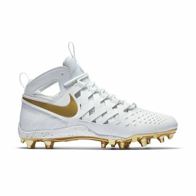 official photos 4698a ed784 Nike Huarache V 5 Men s Lacrosse Cleats White Metallic Gold 807142-170 SZ 16
