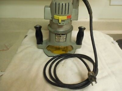 Stanley industrial 90300M router & 90300B router base 3 1/2 hp excellent rare
