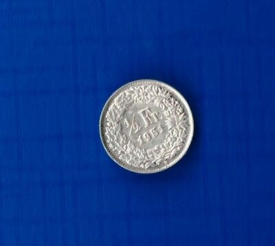 Swiss Helvetia 1/2 Francs 1951  ( BOX 168  -  SILVER  top quality