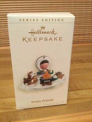 Hallmark Frosty Friends 2006 #27 Ornament Campfire S'mores NEW Perfect
