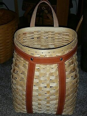 Longaberger 2007 Tour with Me Fall Backpack Basket NEW Never Used RARE protector