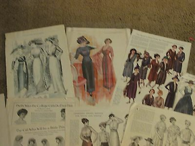 1900 Vintage Art Deco French Fashion  Print ad lot 50 catalog pages