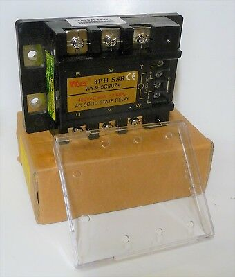 NEW Wyes 3PH SSR WY3H 3C 80Z4 AC Solid State Relay 480VAC 80A 3 PHASE  4-32VDC