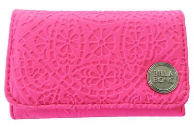 Billabong Wallet New Women S Pu Tags Teen Ladies Trifold Girls Radiant Neon Pink