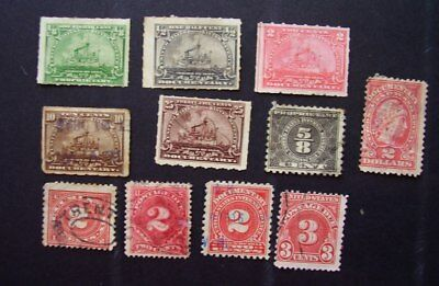 America USA documentary and revenue stamps as shown