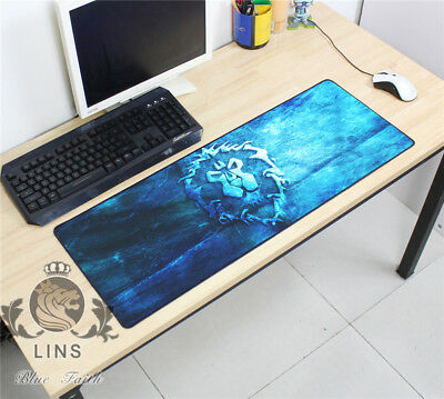Stationery pad World of Warcraft Alliance Lion logo RPG Game mouse pad 80*30CM