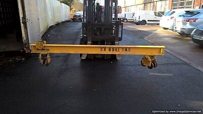 Gantry Crane Running Bar with top and bottom wheels as pictured 1000kgs rated