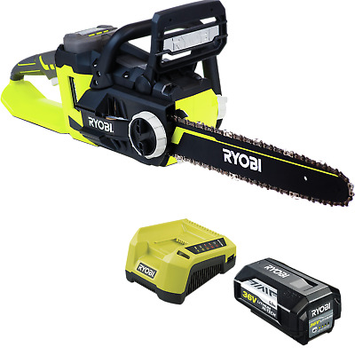 Ryobi 36V 5.0Ah Chainsaw Kit Includes 5.0Ah battery and charger to get straight
