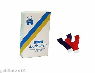 DENTAL ARTICULATING PAPER BLUE / RED 65 MY MADE IN SWEDEN Dental Supplies