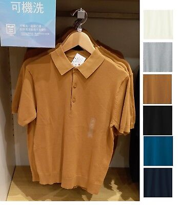 78ced289ad7 UNIQLO Men Washable Knitted Short Sleeve Polo Shirt Choose Colors New 408381