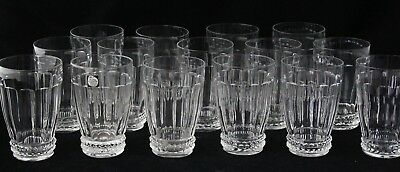 art deco crystal Beer Soda Water Glass, design 1928 Jan Eisenloeffel, Maastricht