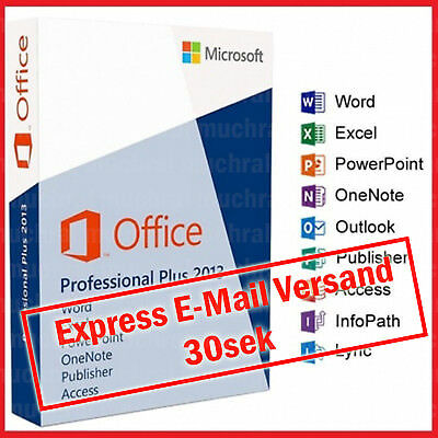 Microsoft Office 2013 Professional PRO Plus 32/64 Bit Original Deutsch