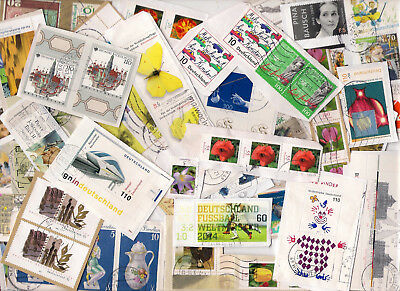 100g GERMANY KILOWARE STAMPS ON CLOSE CUT SINGLE PAPER