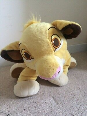 Disney Store Lion King large Simba soft toy approx 22 in