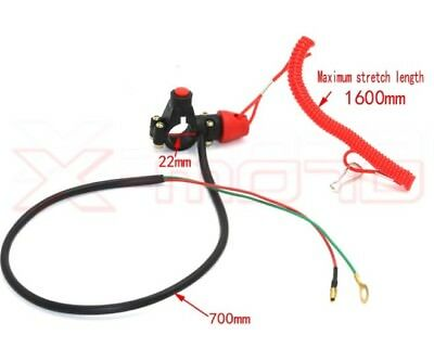 BOTTONE CAVO SICUREZZA CADUTA SPEGNIMENTO 2 Fili X MINI MOTO QUAD MINI CROSS