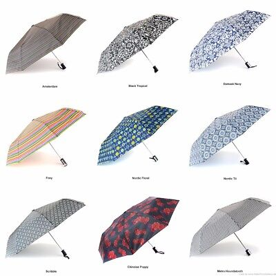 NEW Totes Auto Open Compact Folding Umbrellas Choose From 43 Different Designs