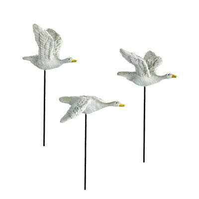 Miniature Dollhouse Fairy Garden Set of 3 Geese Picks - Buy 3 Save $5