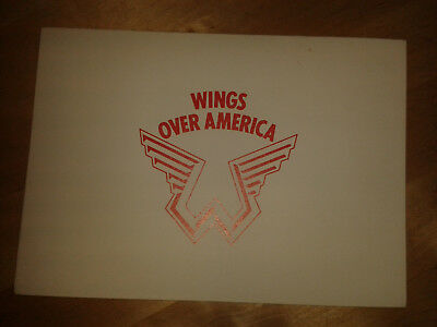 Paul McCartney (Beatles) Wings over America party invitation rare