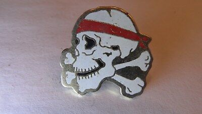 alter BIKER CHOPPER MOTORRAD SKULL TOTENKOPF PIN BADGE, 24 x 22 mm, METALL