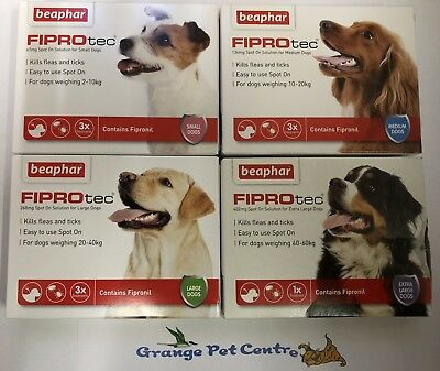 Beaphar FIPROtec Flea Spot On For Small, Medium, Large & XL Dogs