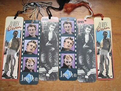 Lot of 6 James Dean Celebrity Photo Bookmarks 3 Styles
