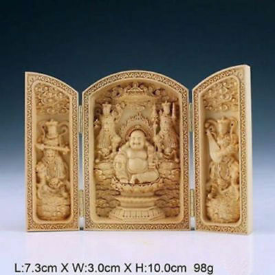 Wholesale! Chinese handmade handmade boxwood carvings, carvings, Buddha statues