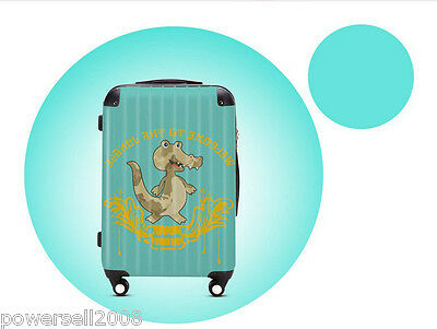 "#12 28"" New Cartoon Crocodile Universal Wheel ABS+PC Suitcase Pull Rod Box LLX"