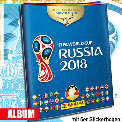 Panini WM 2018 Russia World Cup Sticker Leeralbum Stickeralbum