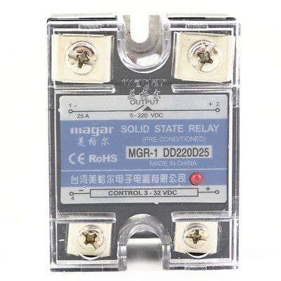 SSR-25A DD DC-DC Solid State Relay input 3-32VDC output 5~220VDC Control
