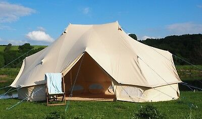 Emperor Bell Tent 100% Canvas Zipped in groundsheet by Bell Tent Boutique.