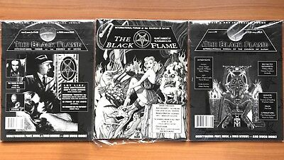 The Black Flame Magazines 3 Issues Church of Satan ANTON LAVEY Peter H. Gilmore