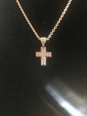 Gorgeous John Hardy Silver And Diamond Cross Necklace