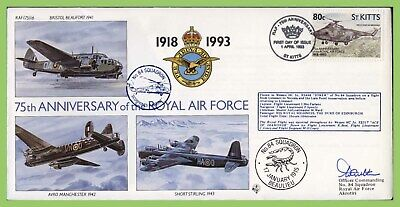 St Kitts 1993 RAF 75th Anniversary, 84 Squadron flown & signed cover